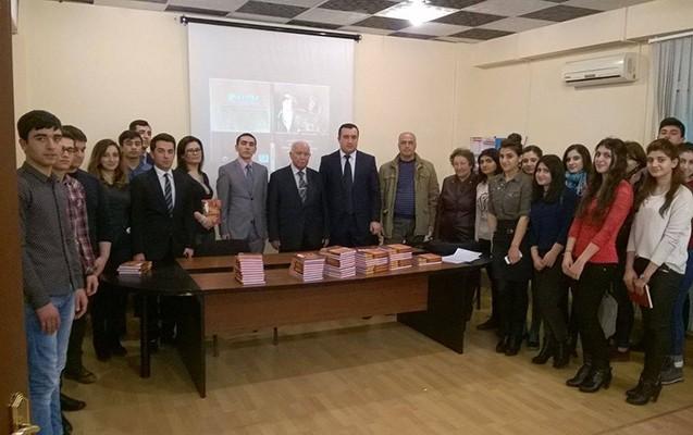 """""""BDU-nun magistrantının kitabının təqdimatı oldu"""