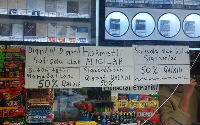 """Piştaxtaların altına enən siqaret: Vasitəçilər qazanır, nazirlik """"bahalaşmayıb"""" deyir"""