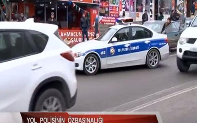 ATV YOL POLİSİNİ BELƏ RÜSVAY ETDİ - VİDEO