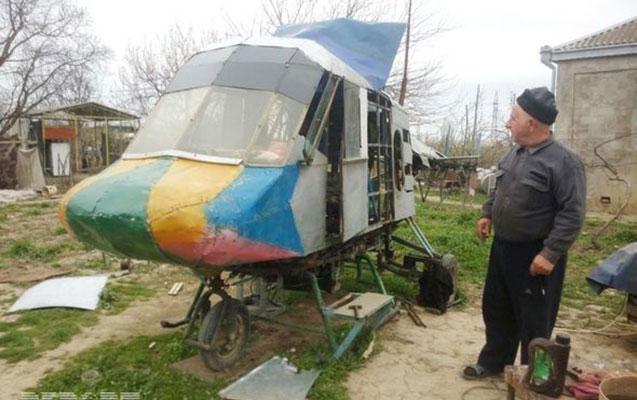 Qusar sakini helikopter hazırladı