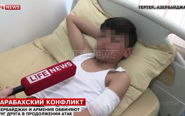 Rus telekanalının Tərtərdən reportajı: Körpələr maşında gecələyir