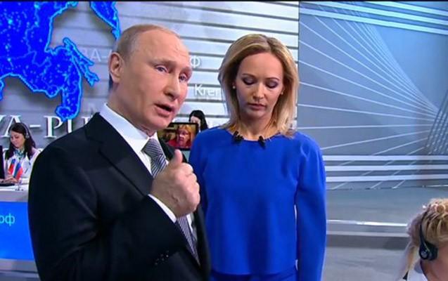 12 yaşlı məktəblidən çətin sual -Putin canlı yayımda