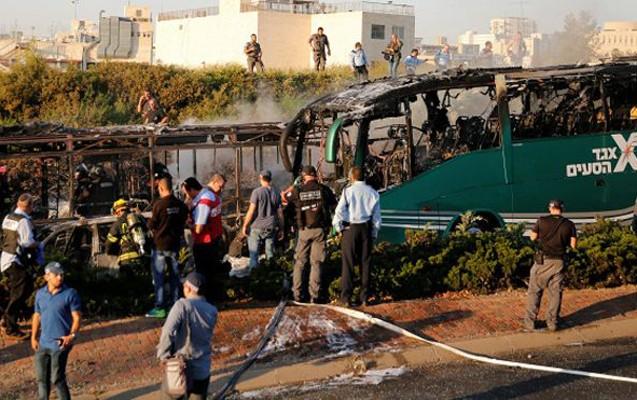 Qüdsdə avtobus partladıldı -21 yaralı + Video