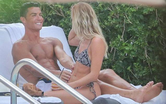 """""""Ronaldo yeni sevgilisi ilə istirahətdə -  Fotolar"""