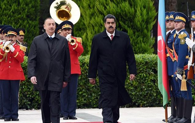 İlham Əliyev Nikolas Maduro