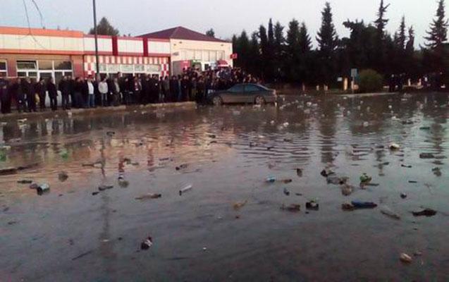 Cəlilabadda körpü uçdu - Bakı-Astara yolu bağlandı+Foto