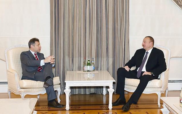 İlham Əliyev Minsk qrupunun həmsədrini qəbul edib