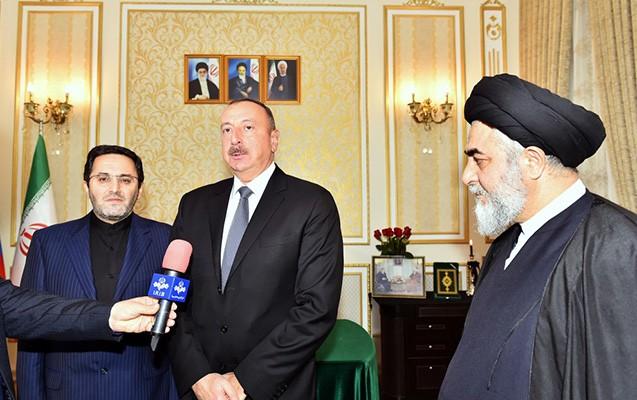 İlham Əliyev İran səfirliyində