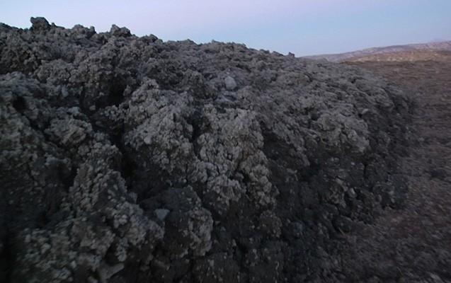 Qaradağda püskürən vulkandan - Foto