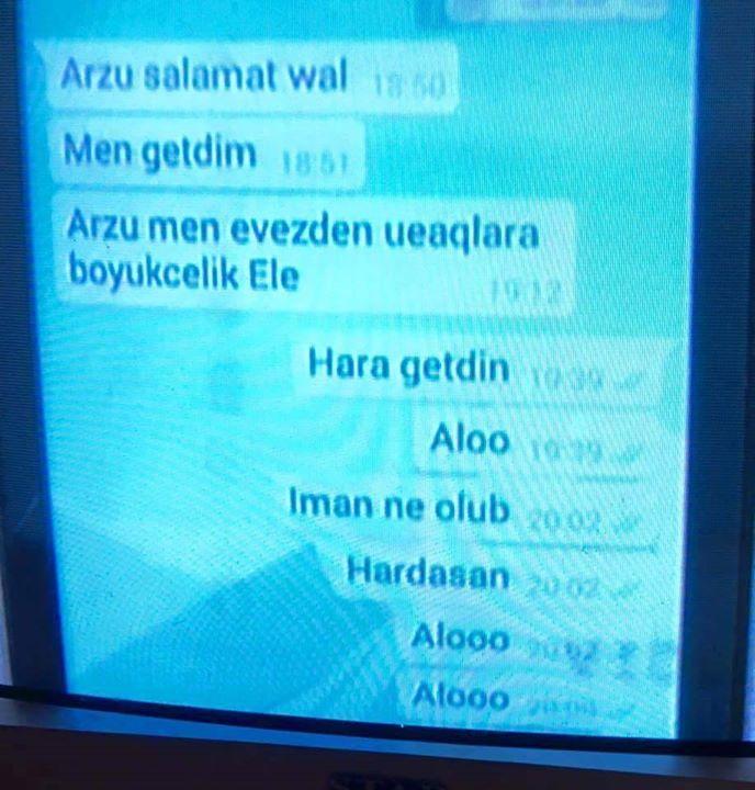 """İtkin düşən neftçinin son mesajı  -  """"Arzu, salamat qal"""""""