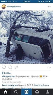 """Sima qəzaya düşdü -  """"Range Rover""""i aşdı+Foto"""