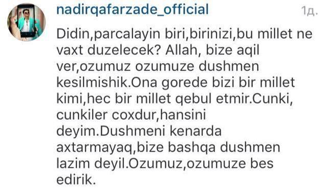 """""""Fahişələrə də """"sənətkardır"""" deyirlər""""  -  Nadir"""