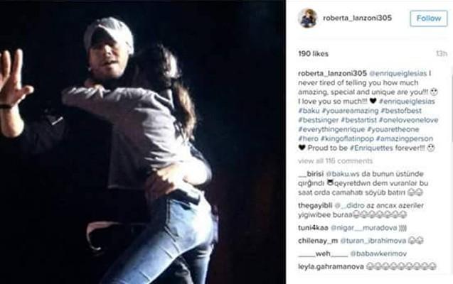 Enrikeni qucaqlayan qız azərbaycanlı deyilmiş... -  Fotolar + Video