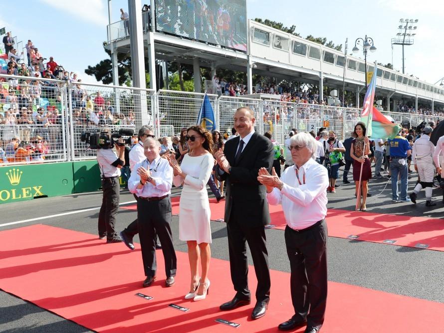 Prezident ailəsi Formula 1-də -   Fotolar