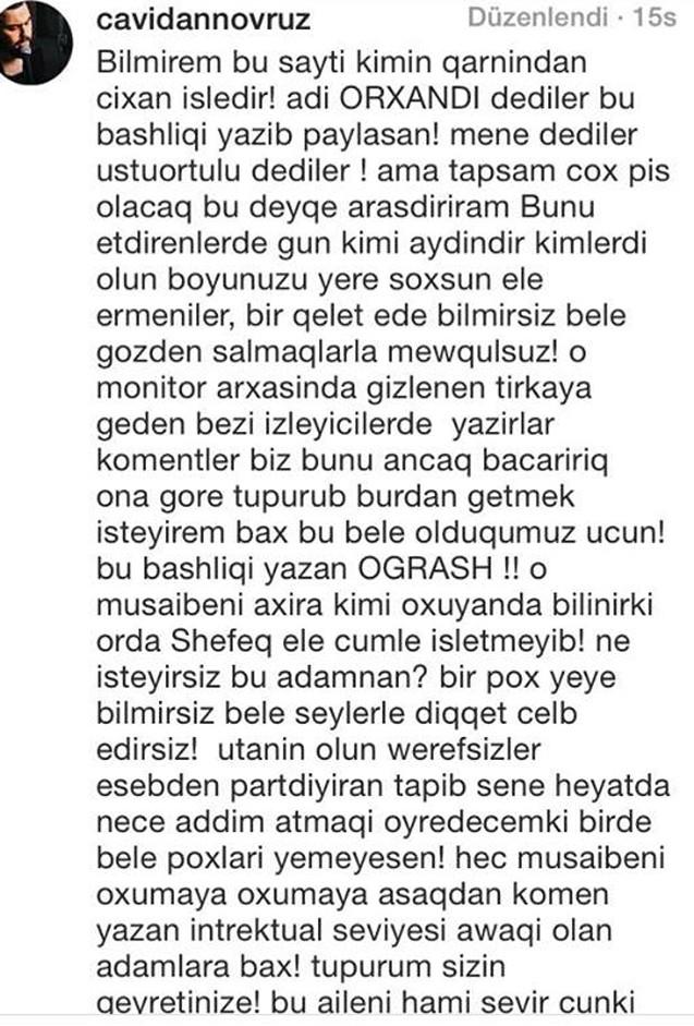 """Qardaşı Şəfəqi müdafiə etdi -  """"Bacım elə cümlə işlətməyib..."""""""