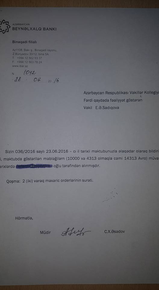 """Elçin Sadıqova pul """"atan"""" tanınmış şəxs kimdir? -  Foto"""