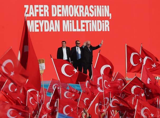 Türkiyədəki mitinqdə Azərbaycan bayrağı dalğalandı -  Fotolar