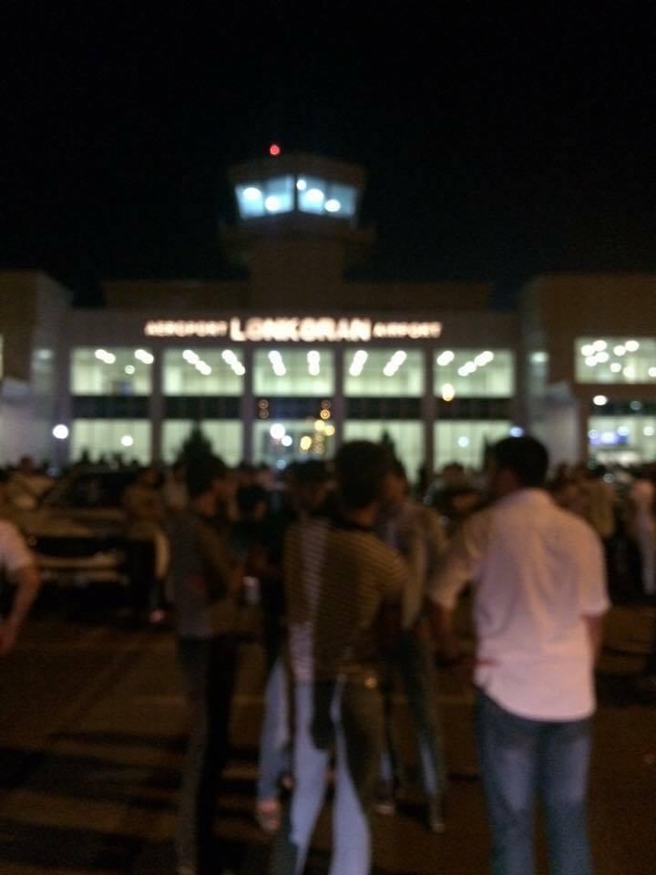 Lənkəranskinin cənazəsi Lənkərana gətirilir  -  Aeroportdan foto
