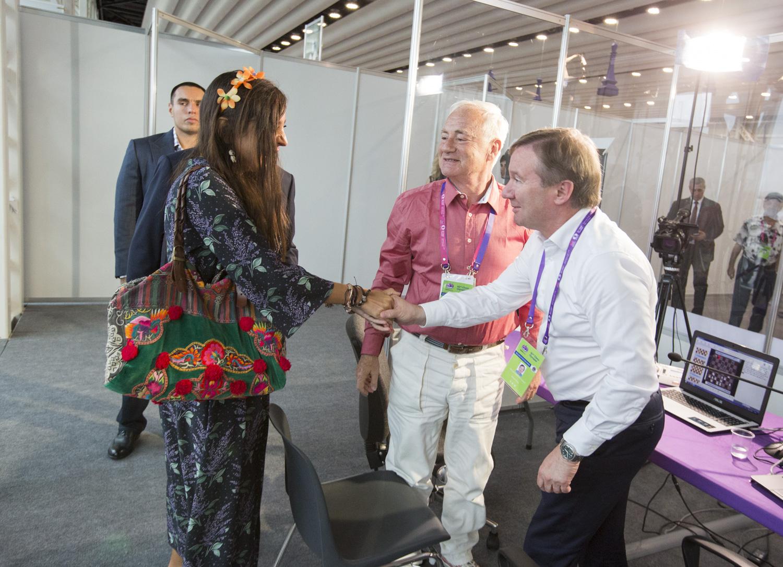 Leyla Əliyeva oyunları izlədi -  Fotolar