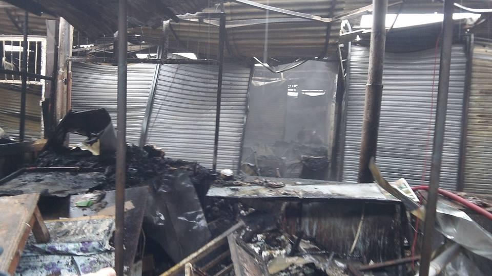 Şəki bazarı güclü yanğından sonra -  Fotolar