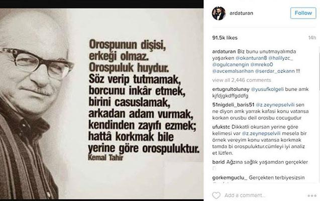 """Ardadan şok paylaşım -  """"Fahişənin dişisi, erkəyi olmaz"""""""
