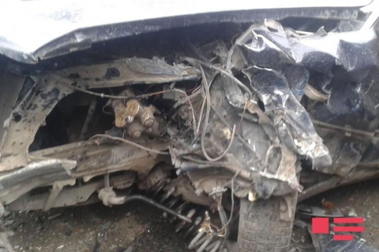 Ucarda iki avtomobil toqquşdu -  3 yaralı + Fotolar