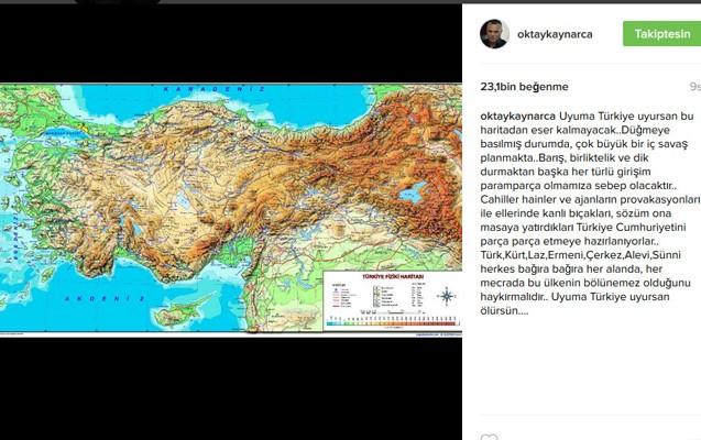 """""""...Bu xəritənin izi-tozu qalmayacaq"""" -  Türkiyəli aktyor"""