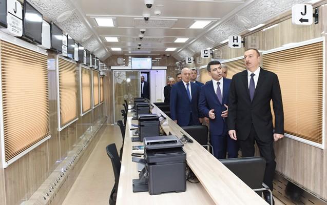 """İlham Əliyev """"ASAN Kommunal""""ın açılışında -  Fotolar"""