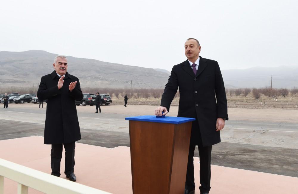 Əliyev Talıbovla təməlqoyma mərasimimdə - Fotolar