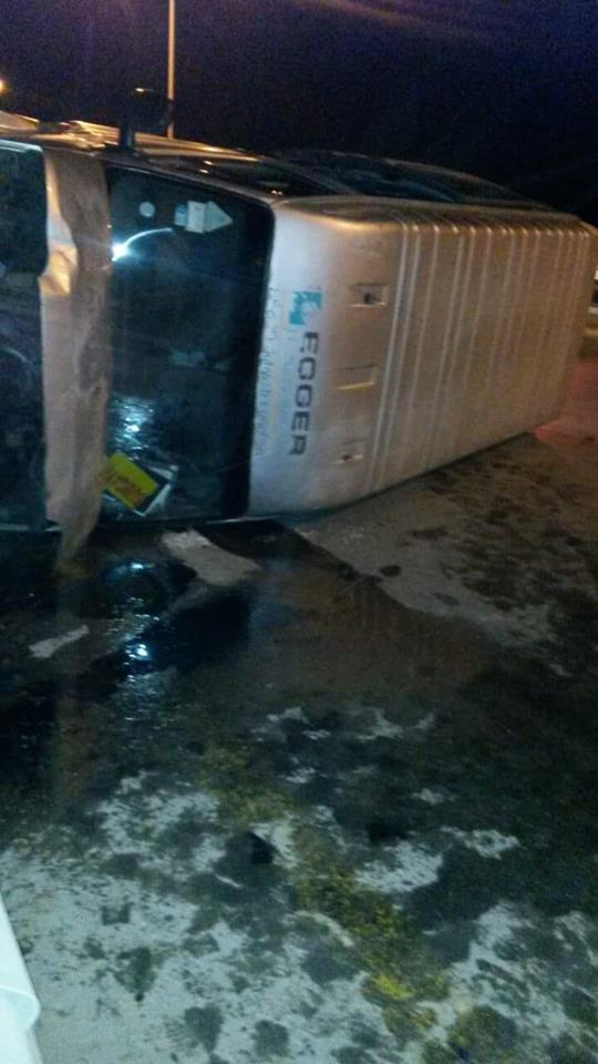 Bakı-Sumqayıt yolunda avtobus aşdı -  Fotolar