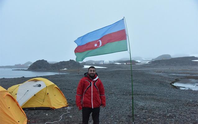 Mehraj Mahmudov in Antarctida